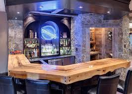 Rustic bar ideas home bar traditional with home bar liquor storage stone  walls