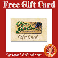 free 10 olive garden gift card