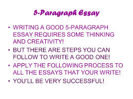 class the five paragraph essay an important writing tool  2 5 paragraph essay writing a good