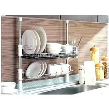 small in sink dish drainer rack telescopic within drain plan kitchen