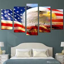 Großhandel Neue Usa Flagge Und Adler Leinwand Malerei 5 Stück