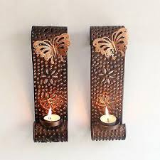 wall hanging tealight candle holder