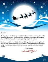 Letter From Santa Template Word Letter From Santa Create A