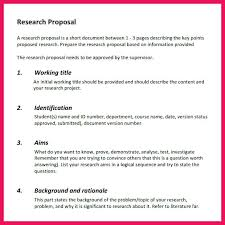 Example Of A Research Proposal Template Background Marketing ...