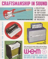 watkins wem guitar amplifiers c1963 watkins dominator amp c1961 watkins copicat 1959 hofner president