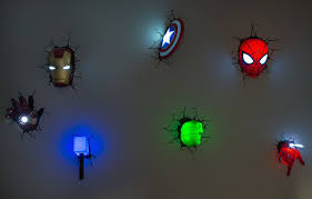 por kids wall lights lots. Avengers 3D Wall Art Night Lights Bundle Iron Man Hand Lot Of 7 For Charity | Por Kids Lots