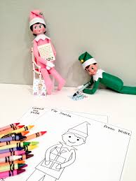 Elf On The Shelf Free Printable Coloring Sheets Smudgey