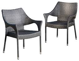 grey wicker outdoor dining sets. alameda outdoor chairs, set of 2 contemporary-outdoor-dining-chairs grey wicker dining sets r