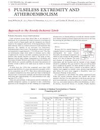 Acs0605 Pulseless Extremity And Atheroembolism