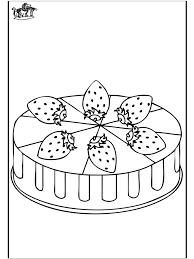 Aardbeientaart Kleurplaat De Bakker