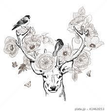 アート きれい 綺麗 鳥のイラスト素材 Pixta