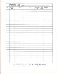 Vehicle Mileage Log Expense Form Gas Sheet Pdf Antonchan Co