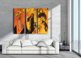 orange yellow black abstract modern wall art large triptych  on canvas wall art large uk with modern urban abstract canvas wall art print entitled take me to the