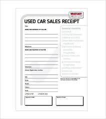 Expense Receipt Template Extraordinary Car Sale Receipt Receipt Template Doc For Word Documents In