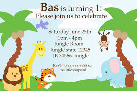 Jungle Theme Birthday Invitations Safari Birthday Invitation Template In 2019 Birthday Party