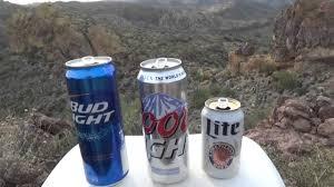 Coors Light Bud Light Bud Light Vs Coors Light Vs Miller Lite Beer Review