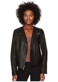 leather cross front jacket vince