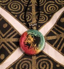 orgonite pendant rasta lion of judah