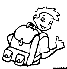 Small Picture Backpack Coloring Page Free Backpack Online Coloring