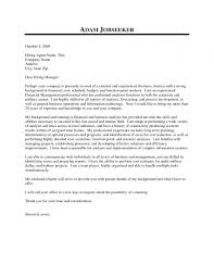 Business Analyst Cover Letter Resume Samples Pertaining To Cover