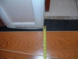 hallways to install the last row of laminate flooring in the hallway under door jamb