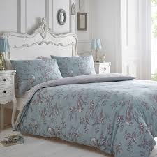 debenhams curious bird duvet cover set blue grey