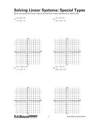 solving systems of equations worksheet answers