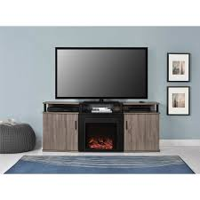 carson fireplace tv console for tvs up to