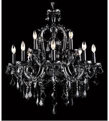 avenue lighting hf1039 blk onyx ln 12 light 29 inch black crystal hanging chandelier ceiling