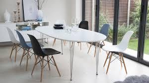white oval extending eames dining set modern white dining table s2