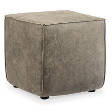 leather cube ottoman. Fine Ottoman Hooker Furniture Quebert Gray Leather Cube Ottoman On H