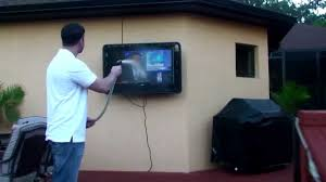 the tv shield outdoor tv cabinet enclosure case durability test you