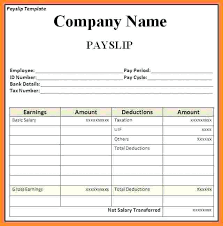 Employee Salary Slip Sample Simple Excel Payslip Salary Template Employee Get Doc Word Document 48