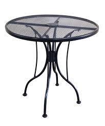 wrought iron black mesh table 30