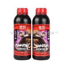 Shogun Fertilisers Samurai Coco Nutrient A B