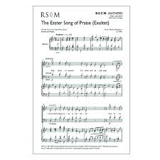 exultet sheet music shephard easter song of praise exultet presto sheet music