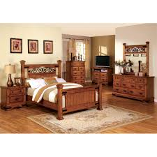 american bedroom furniture. furniture of america 4 piece country style american oak bedroom pertaining to