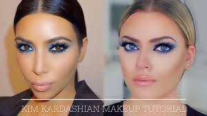 kim kardashian inspired makeup tutorial blue smokey eye also for hooded eyes you