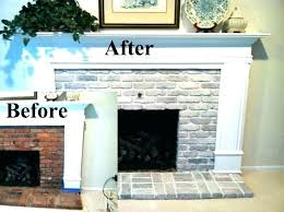 brick fireplace surround white before and after whitewash fireplaces painting mantels painted ideas brick fireplace surround
