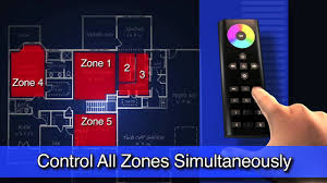 multi zone wifi led lighting control wirelessly with smartphone or remote you