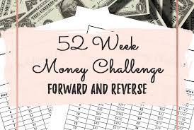 52 Week Money Challenge Forward And Reverse