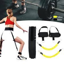 <b>6pcs resistance bands</b> belt system set exercise workout fitness yoga ...