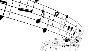 Music Notes Flowing On White Background Seamless Animation Motion