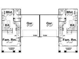 Best page duplex plans   garage in middle Best Page duplex Plans With Garage In Middle