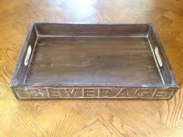 vintage wooden trays highly collectible also great for decorative use or display