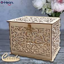 <b>OHEART Wedding Card Box</b> With Lock Baby Shower Decor ...