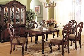 dining room clic room design turned front legs chairs mix match oval leg table large