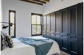 closets with black doors