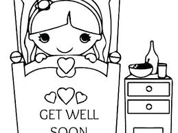 Get Well Soon Coloring Sheets Colors Flashcards Pages Printable Card