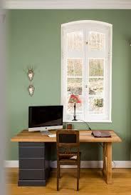 Arbeitszimmer In Einem Warmen Grün Grau Ton Ginkgo Da Kann Man